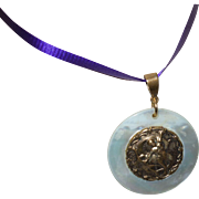 Vintage MOP and Brass Zodiac Medallion