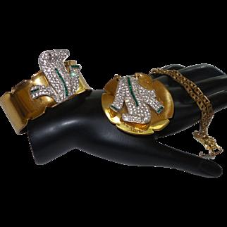 Signed Vintage McClelland Barclay Necklace and Bracelet