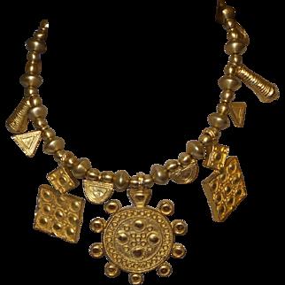 Signed Vintage Kenneth Lane Aztec Necklace