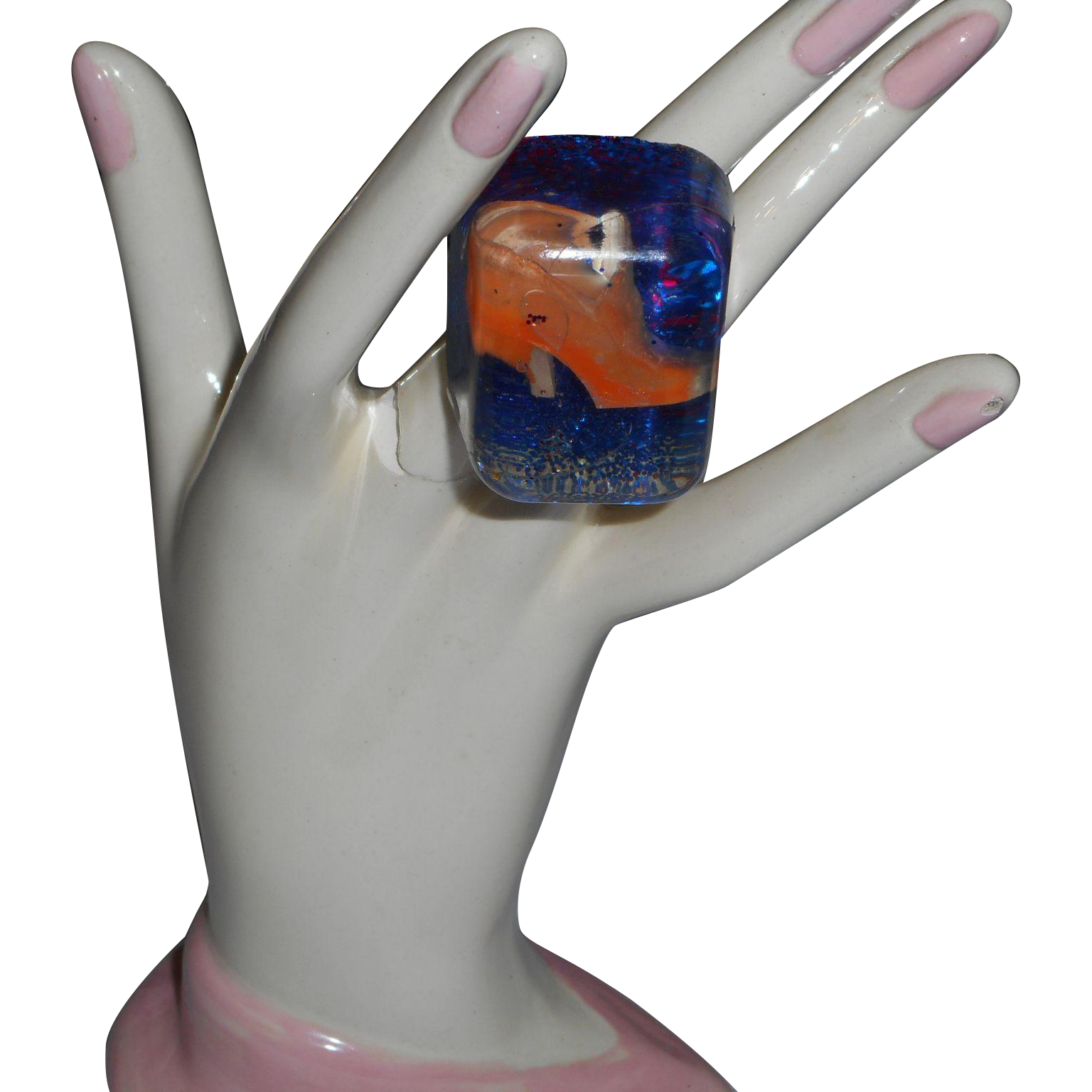 Vintage Lucite Ring 15