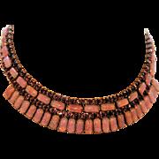 Vintage Mexican Opal/Dragon's Breath Necklace