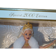 NRFB Holiday Celebration Barbie 2000 Edition