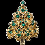 Signed Eisenberg Christmas Tree Brooch