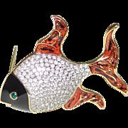 Signed Guy Laroche Fish Pin