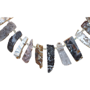 Artisan Created Druzy Quartz Necklace in Blacks, Browns and Whites