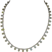 Artisan Created Un-Polished Lemon Citrine Faceted Briolette Necklace