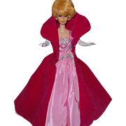 Vintage Barbie Sophisticated Lady With Cat-Dress-Pink Shoes-Necklace and Gloves