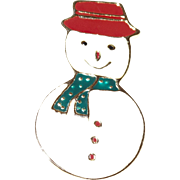 Vintage Snowman Pin AAI Signed