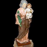 Vintage St. Joseph and Baby Jesus Figure