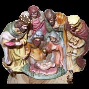 Vintage Bisque Nativity Scene