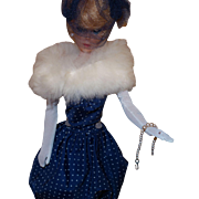 Vintage Barbie Gay Parisienne With White Stole, Hat and Gloves