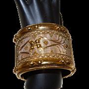 Vintage Gold Tone Clamper Style Bracelet