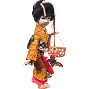 Vintage  Ningyo Japanese Doll with Original Case