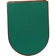 Vintage Art Deco Green Enameled Powder Compact