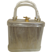 Vintage Signed Stylecraft Miami Lucite Handbag
