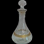 Vintage Banded Crystal Decanter