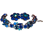 D&E Juliana Bracelet and Earrings Set in Shades of Blue