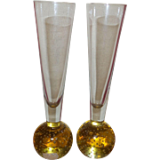Vintage Czech Glass Bud Vases