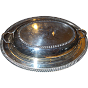 Vintage Covered Silverplated Vegetable Dish