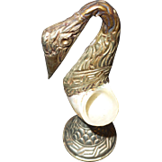 Vintage Swan Shaped Salt with Pearlized Shell