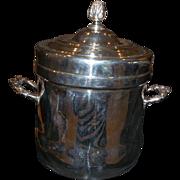 Vintage Silver on Copper Ice Bucket