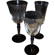 24 Pieces of Art Deco Glass Stemware