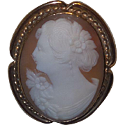 Antique Victorian/Edwardian Cameo in Left Profile