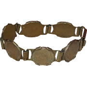 Art Deco French Franc Coin Bracelet Republique Francaise