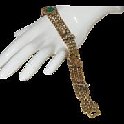 Signed Goldette Victorian Revival Bracelet