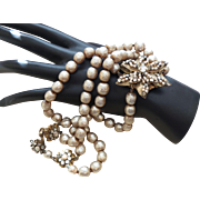 Signed Miriam Haskell Faux Pearl Choker