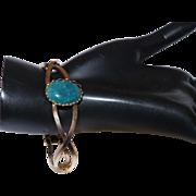 Vintage Bracelet with Moss Agate