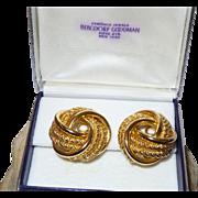 Vintage Signed Henkel Grosse German Earrings