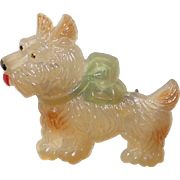 Vintage Celluloid Scottie Pin