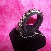 Wow! Vintage Monet Heavy Silver Tone Chain Link Bracelet