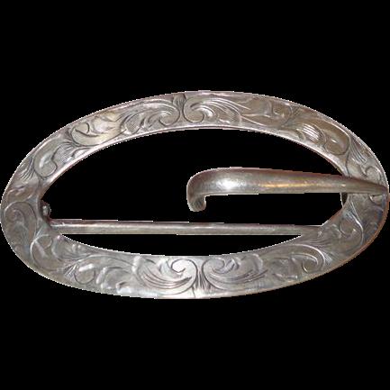 Antique Signed Sterling Unger Bros Art Nouveau Belt Sash