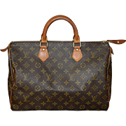 Authentic Louis Vuitton vintage Monogram Speedy 35 handbag purse