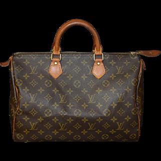 Authentic Louis Vuitton vintage Monogram Speedy 35 handbag purse