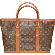 Authentic Louis Vuitton Vintage Monogram Sac Weekend Shoulder Bag Tote