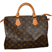 Authentic Louis Vuitton vintage Monogram Speedy 30 handbag purse