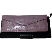 Authentic Nancy Gonzalez Lavender Crocodile 2 Way Envelope Clutch