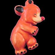 Uncas Manufacturing Plastic Bear Figural Pin - 1945 Design Patent