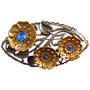 Graceful Pot Metal Flower Pin - Nicely Detailed