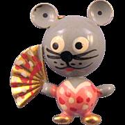 Robotic 'Puffed' Geisha Mouse Pin