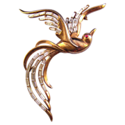 1950 Trifari Bird in Flight Brooch - Design Patent