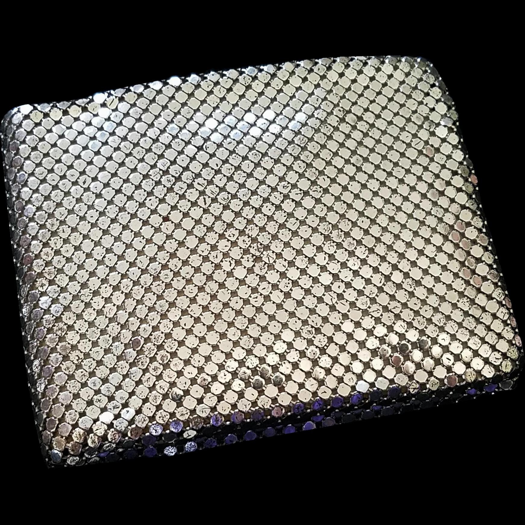 Vintage Whiting and Davis Silvertone Mesh Bifold Wallet