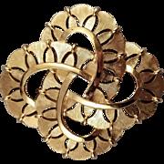 Vintage Trifari Classic Looped Textured Goldtone Pin