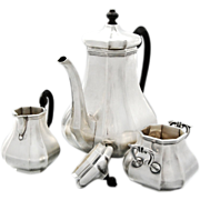 Dutch Three-part Art Deco solid silver coffee-set