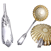 Lapeyre: French Sterling Silver & Vermeil Sugar Sifter Spoon