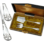 Antique French Silver 2pc Hors d'Oeuvre Set