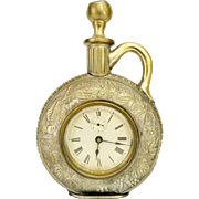 Antique Ansonia Jug Novelty Clock, Brass, c.1886